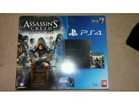 PlayStation 4 500gb with games and controller. Boxed in great condition!