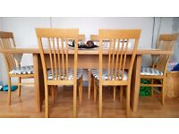 Dining Table & six chairs - in Beech
