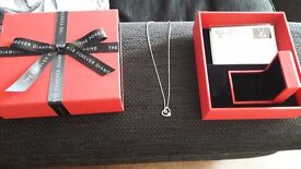 Forever diamond necklace new never worn