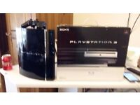 PLAYSTATION 3 RARE BACKWARDS COMPATIBLE WITH PS2 GAMES 60GB COMPLETE AND BOXED + 6 GAMES