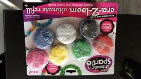 loom bands for sale they are packs with 2000 bands in a pack you can have them for 50p per pack