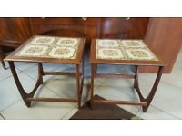 2X Vintage Retro MID Century G Plan Fresco Teak Tiled Coffee Side Table £65 each