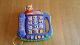 Vtech winnie the pooh teach n lights phone