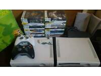 Xbox 360+38games+2controllers+extraxbox360