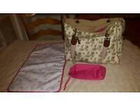 Pink lining Yummy mummy tote changing bag