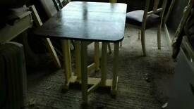 Old drop leaf table