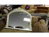 Large fire place mirror in cream must be seen