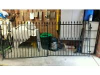 Wrought iron gates 11ft opening heavy duty