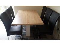 Harvey's extending dining table & 6 chairs only GBP 415. Collection only.