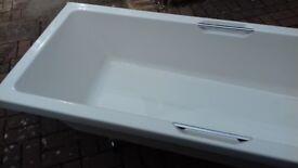 Carronite low level white bath