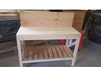 just done kids solid woodworking bench just like dads for kid who like to help there dad / or mum
