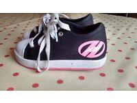 Black and pink Heelies / Heelys size 13