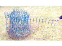 Green garden wire mesh fence