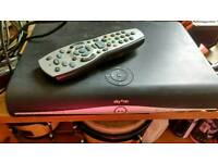 Sky HD+ box with remote and cables