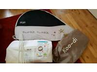 Koo di pop up travel cot-once used