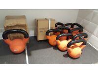 Kettlebells - 7.5kg, 6kg, 4kg, 2kg