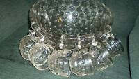 Vintage Punch Bowl, 12 cups , ladle