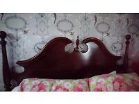 REDUCED ........Amazing Mahogany Kingsize Bed Frame .... REDUCED