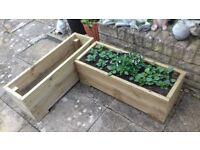 Handmade garden planter