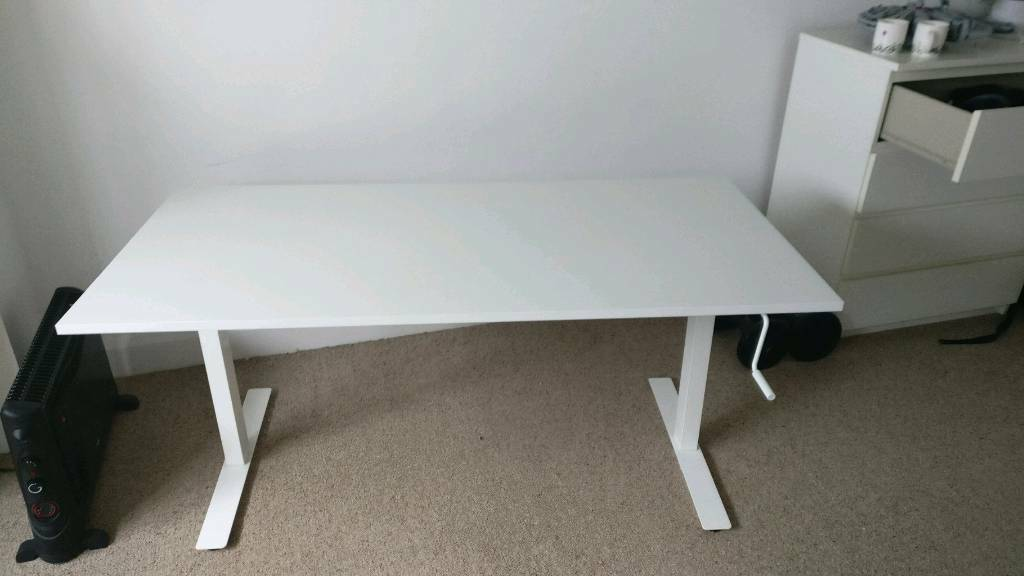 Sit stand desk ikea skarsta 160x80cm can deliver 10 mile radius in