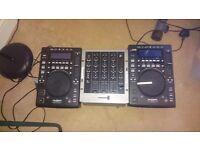 Kam usb and1 cdj and numark m4 mixer