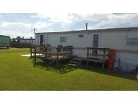 Static caravan at allonby on mealo site