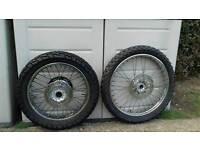 Yamaha dt .wr 125 wheels