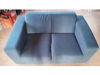 Small 2 Seat Sofa, Chocolate Brown, Collection Only