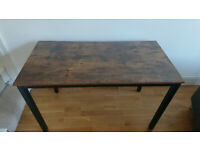 Desk industrial style with metal frame