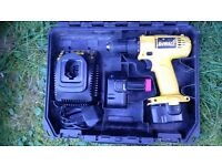 (DeWALT) 12 volt Cordless Screwdriver with 2 x batteries, charger & carry case