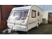 2002 Bailey 4/5 berth Family caravan with awning and Motor mover