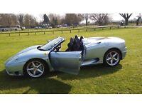 Blue Ferrari 360 F1 Spider