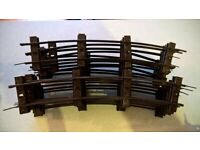A selection of 63 pieces of Gauge 'O' railway track (see list)
