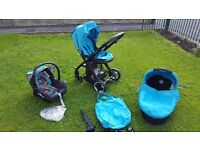 oyster pram / travel system with accessories