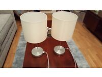 2 x bedside lamps, good condition