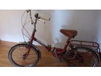 Retro folding bike goid condition