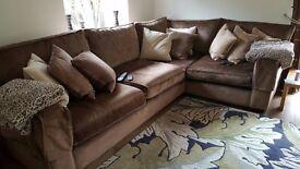 Luxury L Shaped Corner Sofa By Sofa Design In Loughton (RRP £3000)