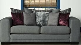 Brand new 3 seater scatter back sofa