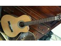 Acoustic-electric classical guitar Cort
