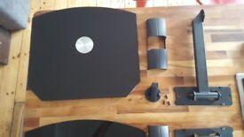 Audio/Video glass floating shelf