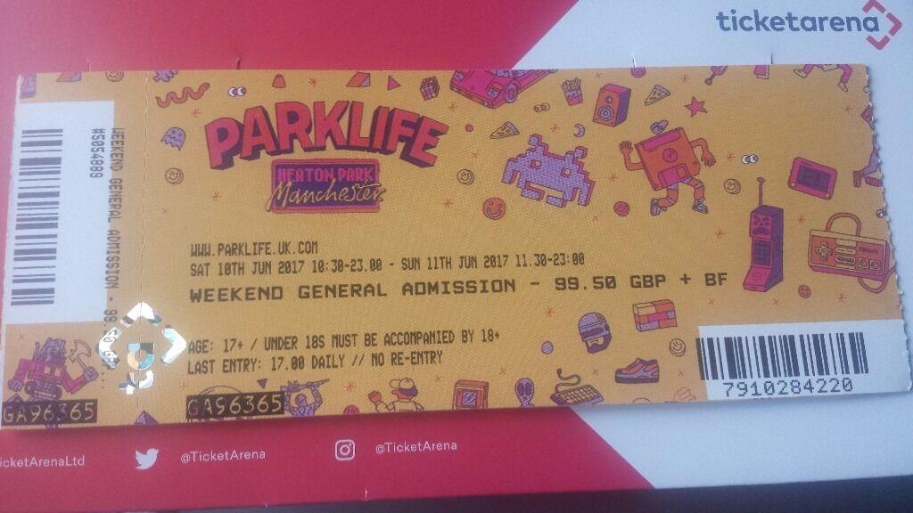 Parklife Full Weekend Ticket In East End Glasgow Gumtree