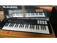 M-Audio Oxygen 49 Mk IV USB MIDI Keyboard Controller + Free Stand - JUST SERVICED
