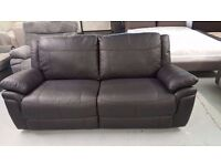 Ex-Display ScS LEO BLACK LEATHER 3 SEATER SOFA in EXCELLENT CONDITION **Can Deliver**