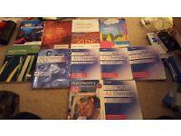 A level chemistry, biology, economics textbooks
