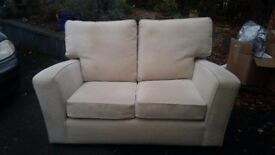 Setees cream two seater Marks and Spencer x2