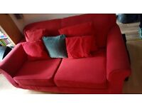 2 seater sofa with sofa bed attachment