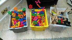 Boxes of building/construction activity toys