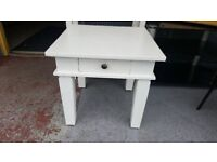 White Coffee / Plant / Side Table With Drawer