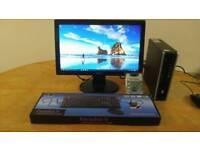 HP Ultra Small Home & Business PC Desktop Computer & Benq 19 LCD Widescreen