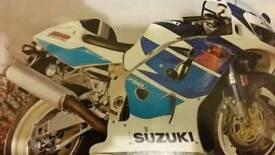 Suzuki gsxr750srad injection full bike breaking!